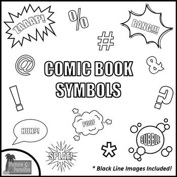 Comic Book Symbols Clip Art