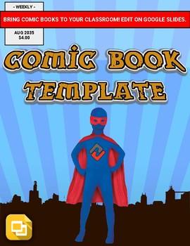 Comic Book Template (Editable in Google Slides)