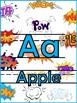 Comic Book Theme Alphabet