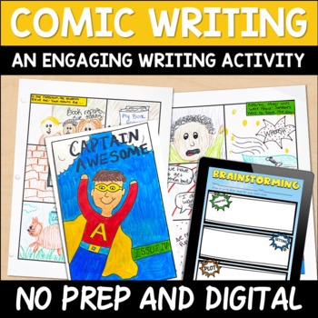 Digital and Printable Comic Book Writing for Distance Learning