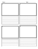 Comic Book Writing Paper (2 lines)