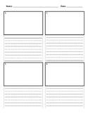 Comic Book Writing Paper (3 lines)