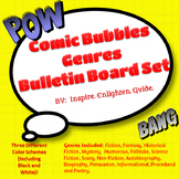 Super Hero Comic Bubble Genre Bulletin Board Poster Set