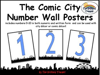 Comic City Alphabet Numbers BUNDLE Word Wall Anchor Poster Decoration