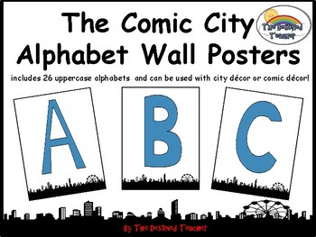 Comic City Alphabets Word Wall Anchor Poster Decoration