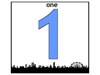 Comic City Numbers Word Wall Anchor Poster Decoration