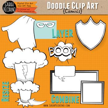 Comic Doodle Clip Art Collection