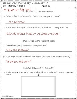 Comic Guy: Our Crazy Class Election (Comprehension Questions) {Level N}