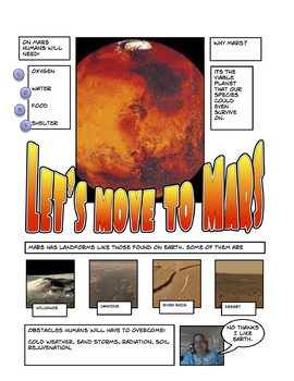 Comic Life - Research Project Template Let's Go to Marrs