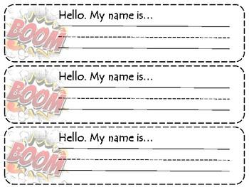 Comic Nametags