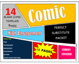 Comic Packet, 15 Pages, Graphic Novel, Center Work, Substi