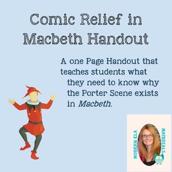 Comic Relief in Shakespeare- Handout (Macbeth)