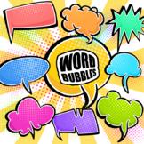 Comic Retro Word Bubble Clipart