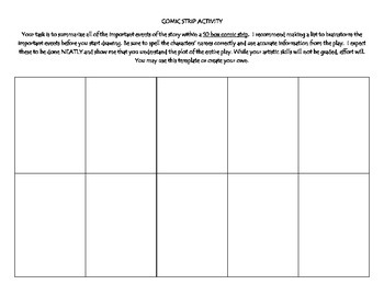 Comic Strip Activity - for any story