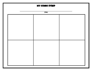 Comic strip blank by therapy trails teachers pay teachers for Printable blank comic strip template for kids