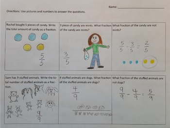 Comic Strip Fractions: Addition and Subtraction