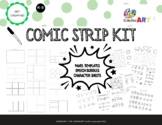 Comic Strip Kit (Panel Template, Speech Bubbles, Character Sheets  for K-8