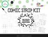Comic Strip Kit (Panel Template, Speech Bubbles, Character