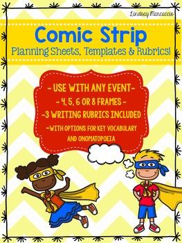 Comic Strip Planning Sheet, Templates and Rubrics