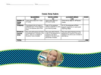 FREE Comic Strip Rubric