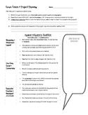 Comic Strip Rubric and Project Planning Sheet