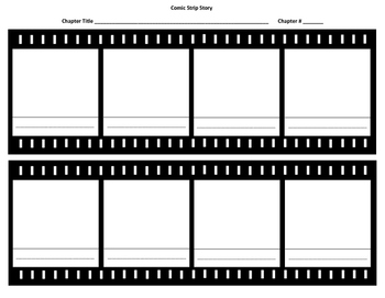 Comic Strip Story Blank with Room for Titles