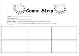 Comic Strip Story Scenes