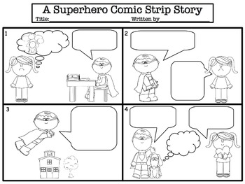 Comic strip story templates by jessica 39 s resources tpt for Comic strip template maker