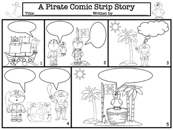 halloween comic strip template  Comic Strip Story Templates