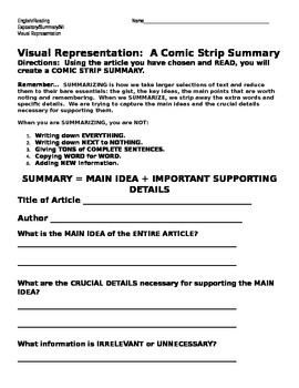 Comic Strip Summary (Expository)