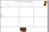 Comic Strip Template 1-5 :) Click and Drag or just Print!