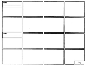 Comic Strip Template