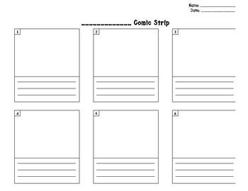Comic Strips Template Worksheets & Teaching Resources | TpT