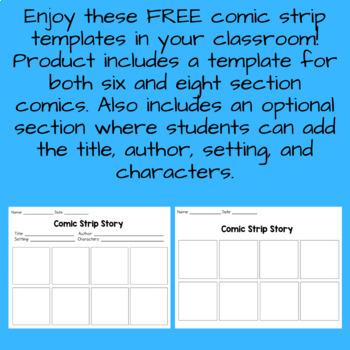 Comic Strip Template FREEBIE!