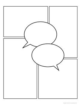 Download: Comic Strip Template Pages for Creative Assignments