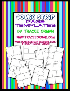Free download comic strip template pages for creative assignments maxwellsz