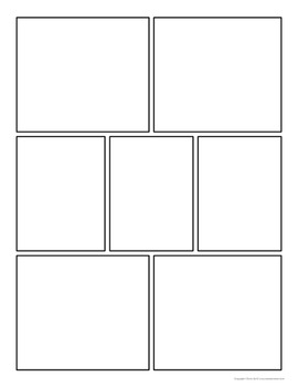 Free Download Comic Strip Template Pages For Creative Assignments