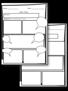 Comic Strip Template- Use With Any Subject!