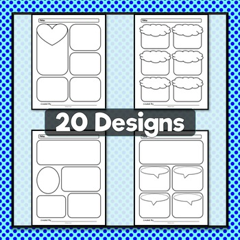 Comic Strip Templates {Set 2} Rounded Designs