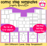 Non-Editable Comic Strip Templates - Super Bundle