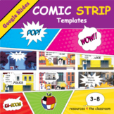 Comic Strip Templates in Google Slides - Distance Learning