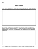 Comic Strip Worksheet
