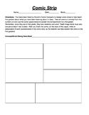Comic Strips Assignment - No Prep/Emergency Sub Plans