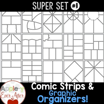 Comic Strips Graphic Organizers Clipart By Apple Y Ever After