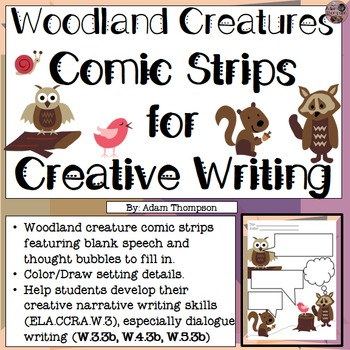 Comic Strips for Creative Writing - Woodland Creatures