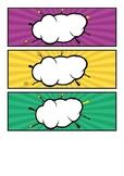 Comic Style Bubble editable Locker tag
