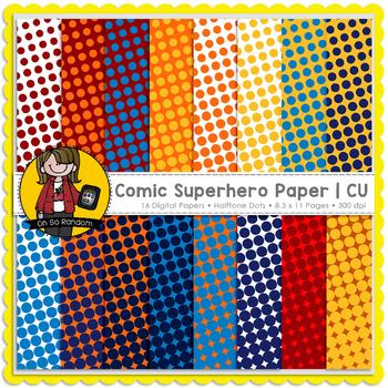 Comic Superhero Paper {CU}