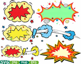 Comic Text Props Super hero clip art Pop Art Speech Bubble baby shower svg -278s