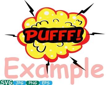 Comic Text Props Super hero clip art Pop Art Speech Bubble baby shower svg -279s