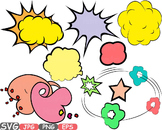 Comic Text Props Super hero clip art Pop Art Speech Bubble baby shower svg -434s